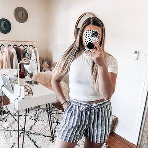 Per se striped shorts